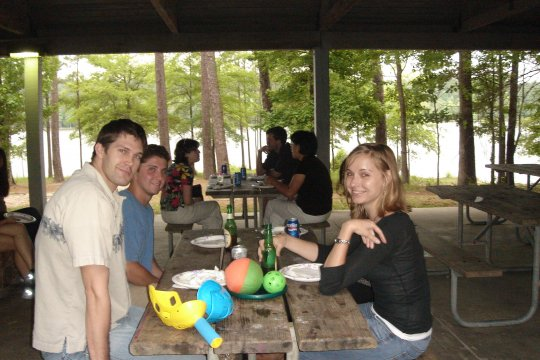 Summer barbeque at Jordan Lake